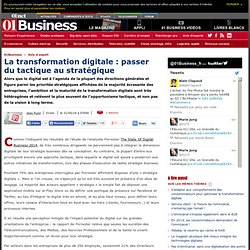 La transformation digitale : passer du tactique au stratégique via @jean_pujol