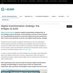 Digital transformation strategy: the bridges to build