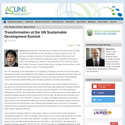 Transformation at the UN Sustainable Development Summit