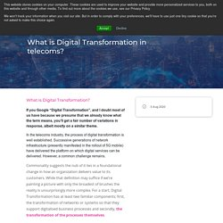 What is Digital Transformation in telecoms?