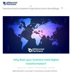 Digital transformation advisory service: Understanding the Need to Digitize