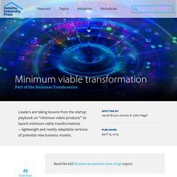 Minimum viable transformation