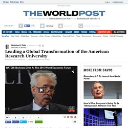 Leading a Global Transformation of the American Research University