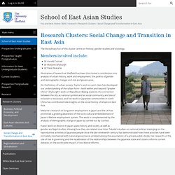 Social Change and Transformation in East Asia - Research Clusters - research - SEAS