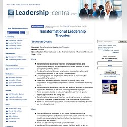 critique of transformational transactional leadership Such was the thinking behind union organizing in the last century which challenged the very basic tenet of transactional leadership theories critique.