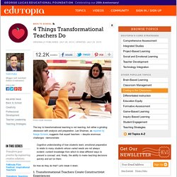 4 Big Things Transformational Teachers Do