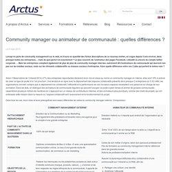 Community manager ou animateur de communauté ?