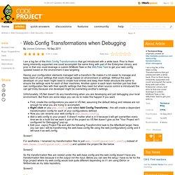 Web.Config Transformations when Debugging