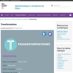 Transformations - Mathématiques