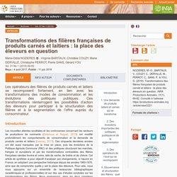 INRA 11/06/18 PRODUCTIONS ANIMALES - Transformations des filières françaises de produits carnés et laitiers : la place des éleveurs en question