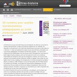 50 numéros pour quelles transformations pédagogiques au lycée professionnel ?