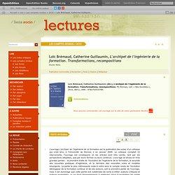 Loïc Brémaud, Catherine Guillaumin, L'archipel de l'ingénierie de la formation. Transformations, recompositions