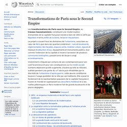 Transformations de Paris sous le Second Empire