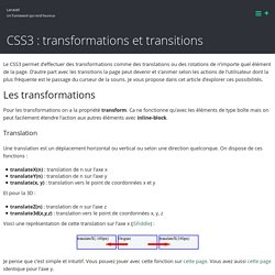 CSS3 : transformations et transitions – Laravel