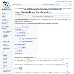 Linear Algebra/Linear Transformations