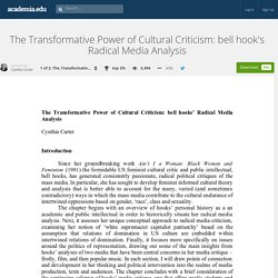 The Transformative Power of Cultural Criticism: bell hook's Radical Media Analysis