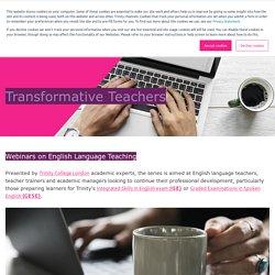 Transformative Teachers Webinars