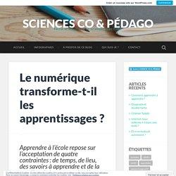 Le numérique transforme-t-il les apprentissages ? – SCIENCES CO & PÉDAGO
