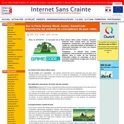 Sur la Paris Games Week Junior, GameCode transforme les enfants en concepteurs de jeux vidéo