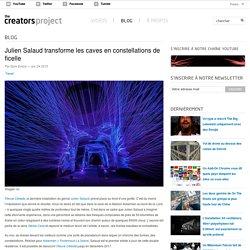 Julien Salaud transforme les caves en constellations de ficelle