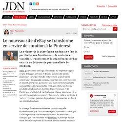 Le nouveau site d'eBay se transforme en service de curation à la Pinterest - JDN web & tech