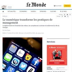 Le numérique transforme les pratiques de management