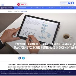 """Sur LCI : Une appli intéressante pour les lecteurs de numérique, """"Nebo""""."""
