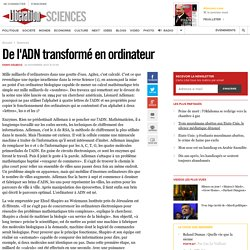 De l'ADN transformé en ordinateur