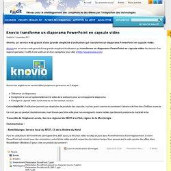 Knovio transforme un diaporama PowerPoint en capsule vidéo