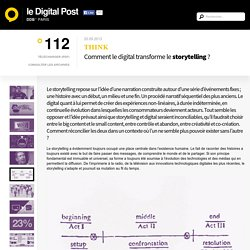 Comment le digital transforme le storytelling ?