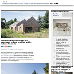 Suffolk barn transformed into bed and breakfast by Blee Halligan Architects