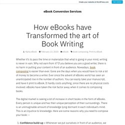 How eBooks have Transformed the art of Book Writing