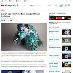 Broken CDs Transformed Into Iridescent Animal Sculptures | The Creators Project - StumbleUpon