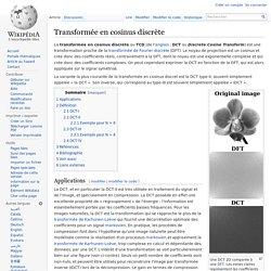 Transformée en cosinus discrète
