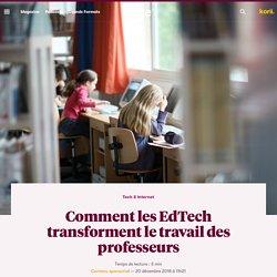Comment les EdTech transforment le travail des professeurs