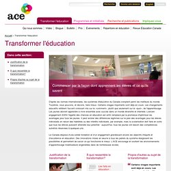 Transformer l'éducation