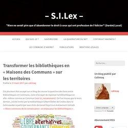 13. Transformer les bibliothèques en «Maisons des Communs» sur les territoires