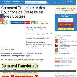Comment Transformer des Bouchons de Bouteille en Belles Bougies.