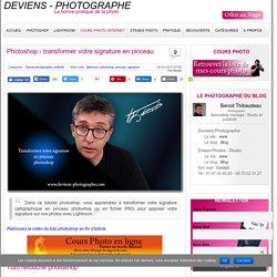 Photoshop, transformer votre signature calligraphique en pinceau
