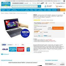 Asus - T100TA-DK005H - Ultrabook 10,1''convertible en tablette tactile - Intel Atom Z3740 1,33 GHz HDD 500 Go + eMMC 32 Go - RAM 2 Go - Intel HD Graphics - Windows 8.1 - T100TA-DK005H - Achat/Vente Ordinateur Portable Grand Public