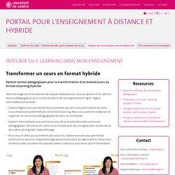 Transformer un cours en format hybride - Enseigner à distance