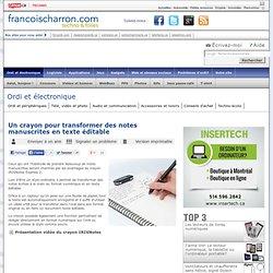 Un crayon pour transformer des notes manuscrites en texte éditable