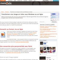 Transformer une image en icône sous Windows ou en ligne