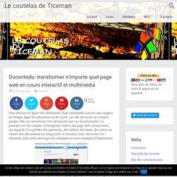 Docentedu: transformer n'importe quel page web en cours interactif et multimédia