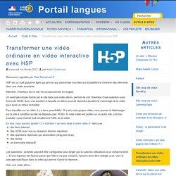 Transformer une vidéo ordinaire en vidéo interactive avec H5P