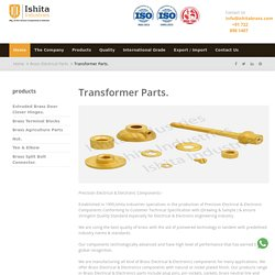 Reputed Brass Electrical Transformer Parts Manufacturer in India