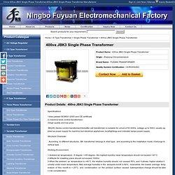 400va JBK3 Single Phase Transformer - Offers from 400va JBK3 Single Phase Transformer Manufacturers, 400va JBK3 Single Phase Transformer Wholesaler and Exporter