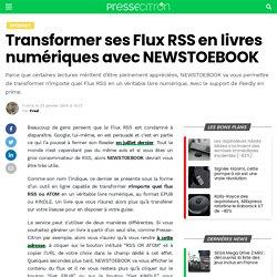 Transformer ses Flux RSS en livres numériques avec NEWSTOEBOOK