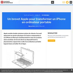 Un brevet Apple pour transformer un iPhone en ordinateur portable