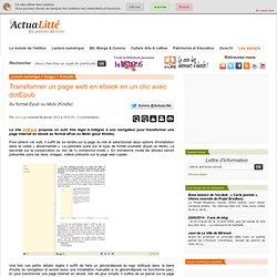 Transformer un page web en ebook en un clic avec dotEpub